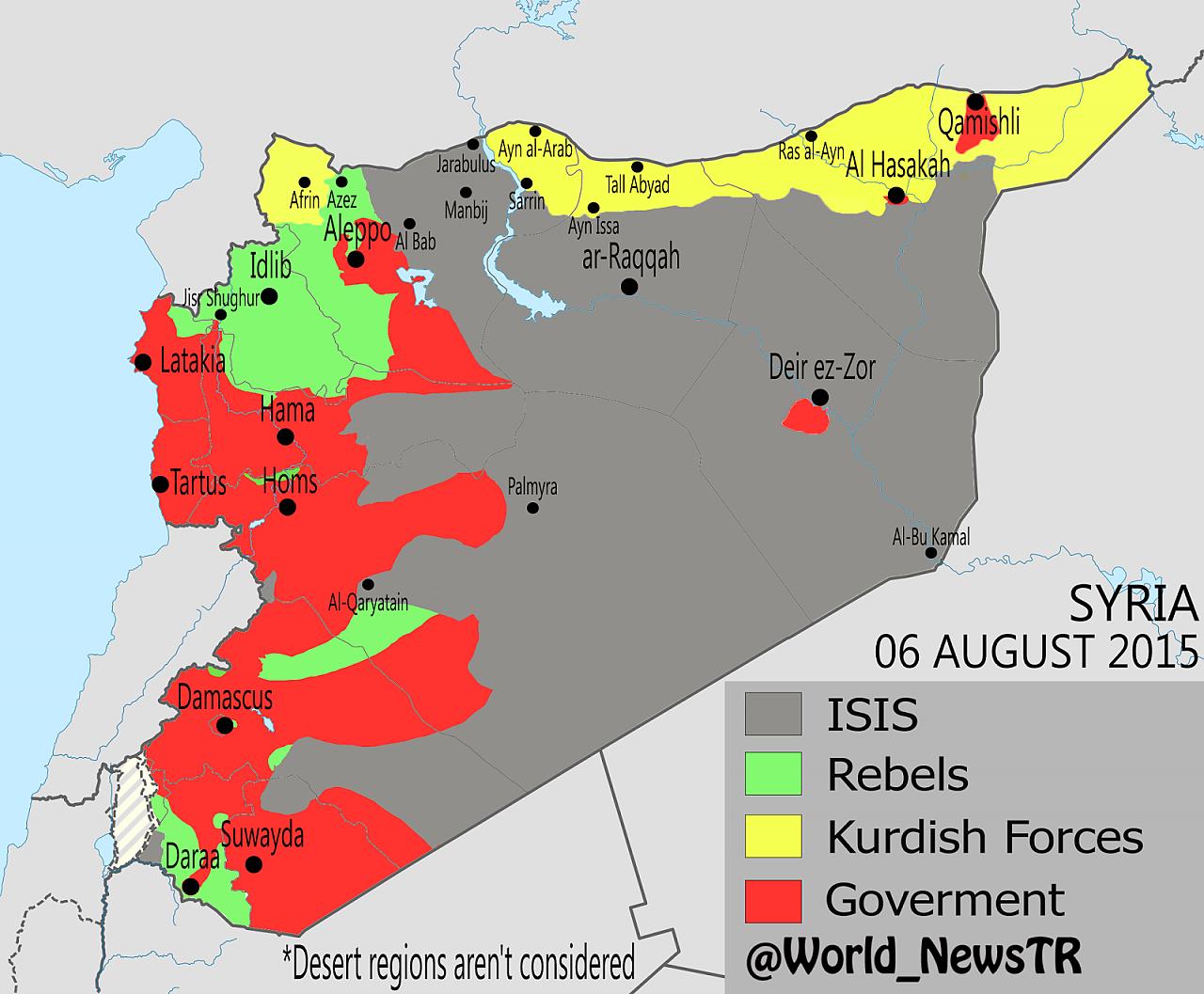 suriye haritası 2016
