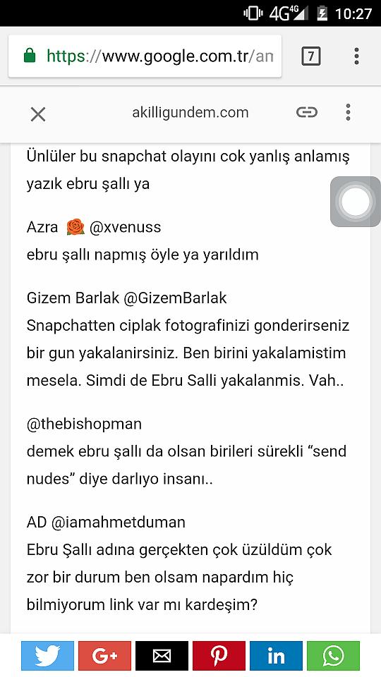 Snapchat ebru salli Ebru Şallı